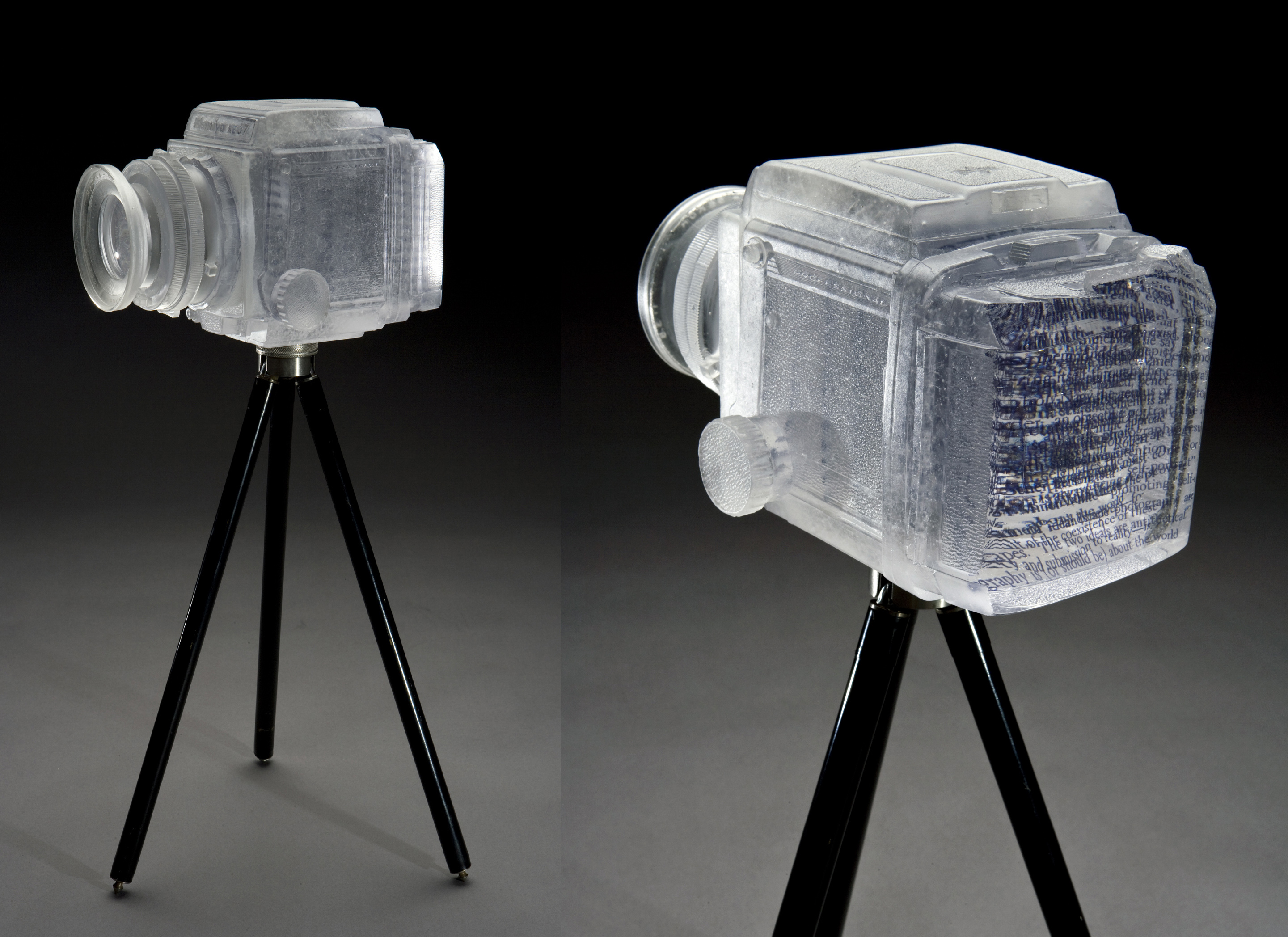 "Josh Hershman Glass Camera ""1,000 Words"""