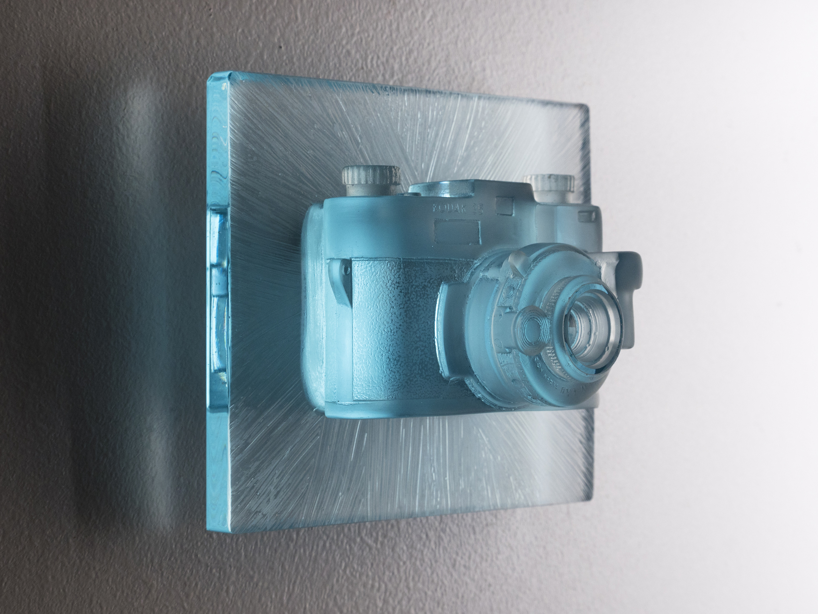 "Josh Hershman Glass Camera ""Blue Sight"""